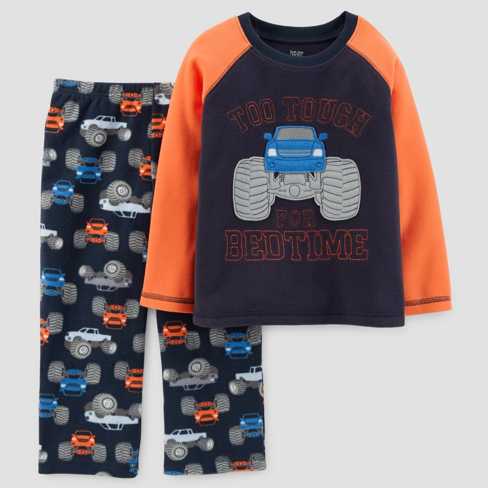 Toddler Boys 2pc Long Sleeve Monster Truck Pajama Set - Just One You Made by Carters Blue 18M, Size: 18 M