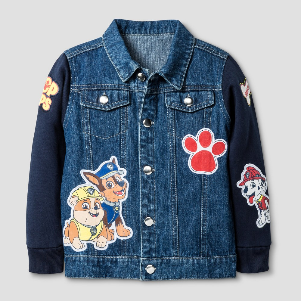 Paw Patrol Toddler Boys Jean Jackets - Blue 3T