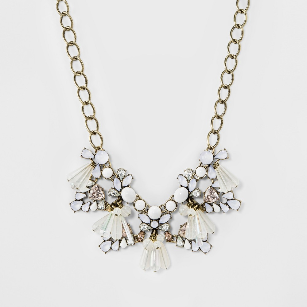 Sugarfix by BaubleBar Embellished Statement Necklace - White, Womens