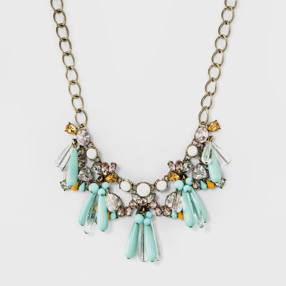 Sugarfix by BaubleBar Embellished Statement Necklace - Turquoise, Womens