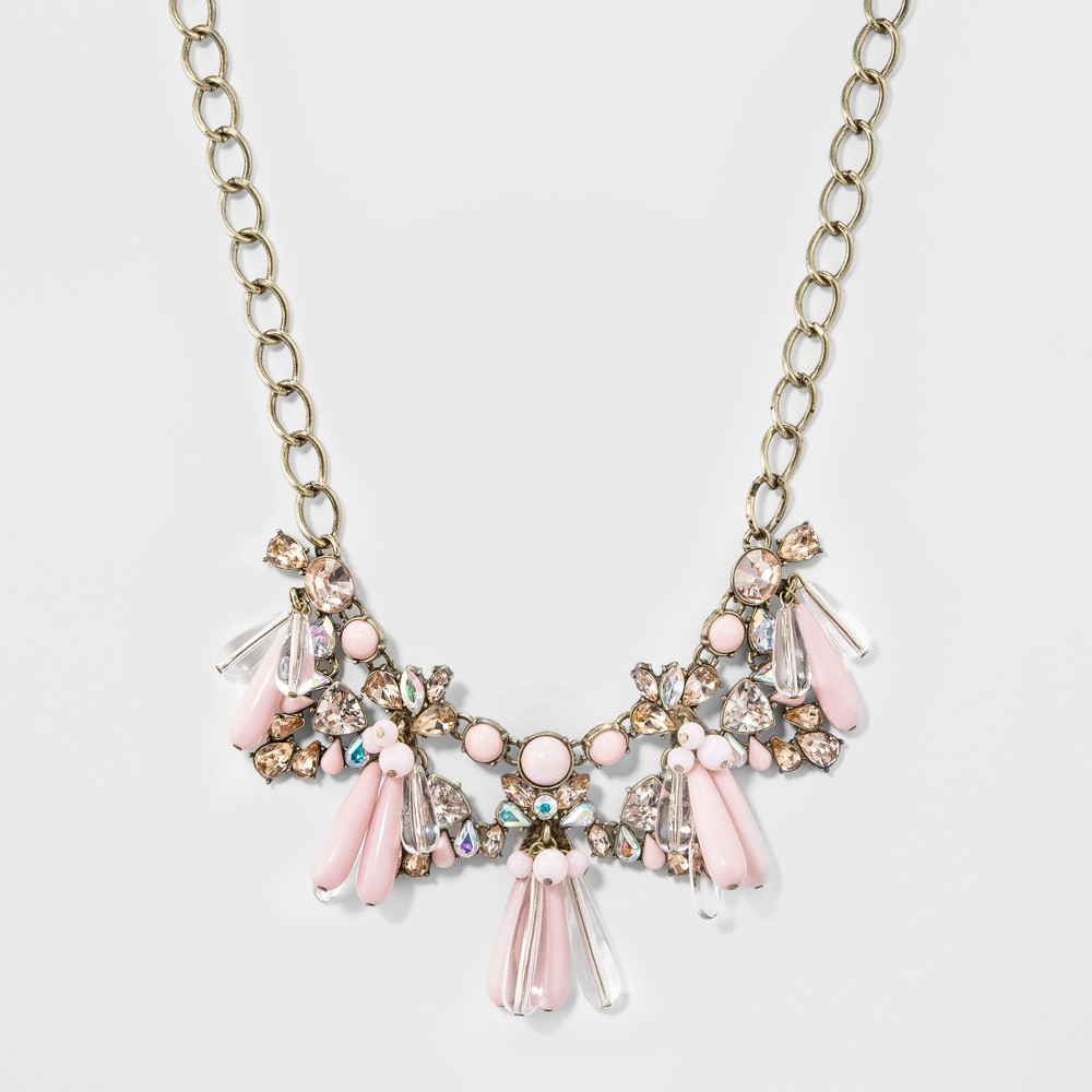 Sugarfix by BaubleBar Embellished Statement Necklace - Pink, Womens
