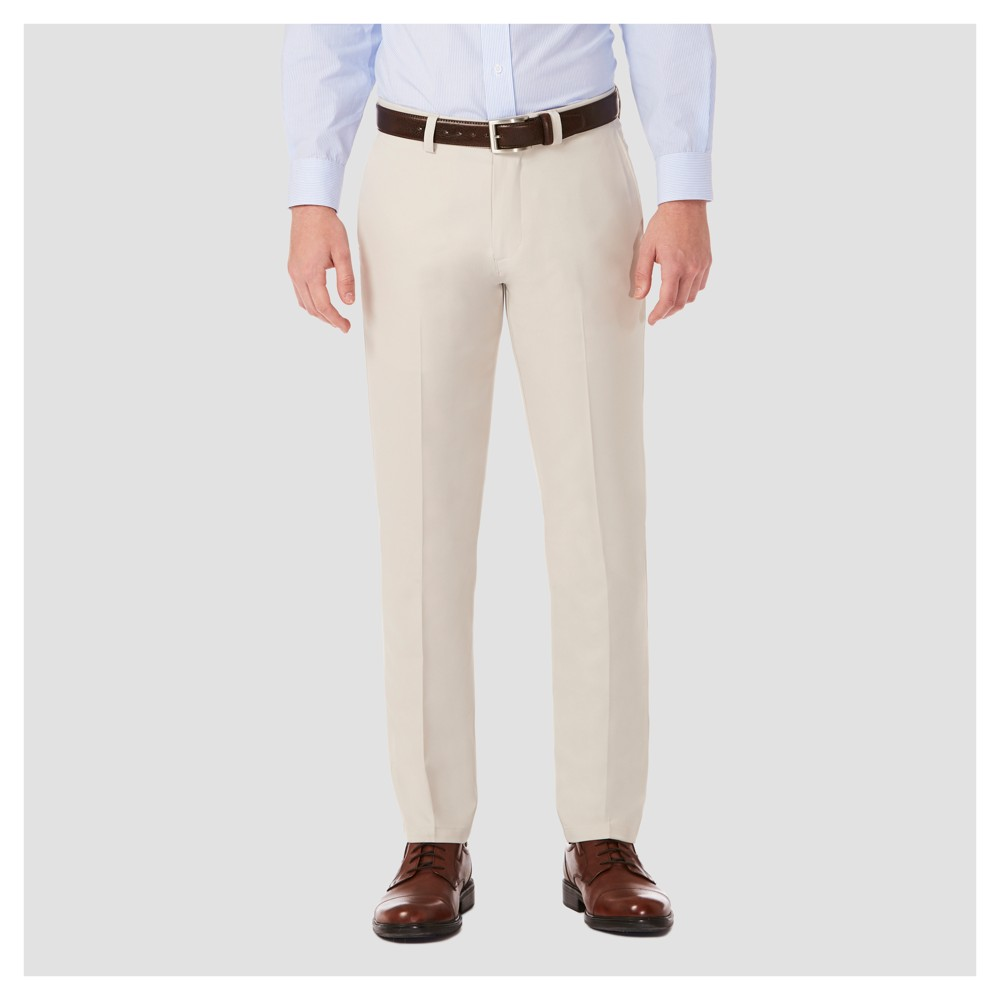 Haggar H26¤ Mens Performance 4 Way Stretch Slim Fit Trouser Pants - String 34x32