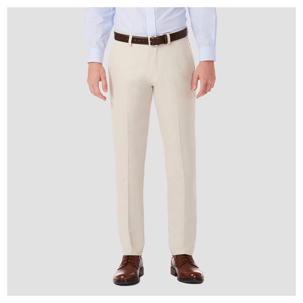 Haggar H26¤ Mens Performance 4 Way Stretch Slim Fit Trouser Pants - String 36x32