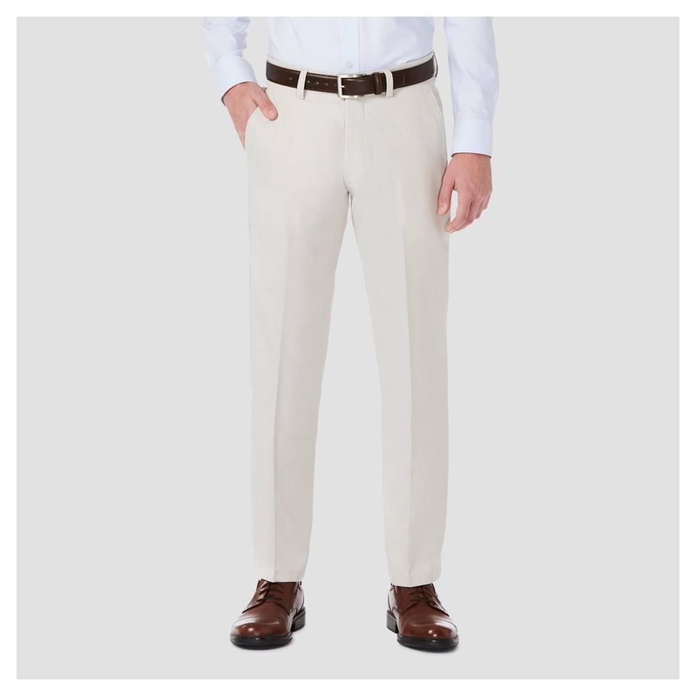 Haggar H26¤ Mens Performance 4 Way Stretch Slim Fit Trouser Pants - String 40x32