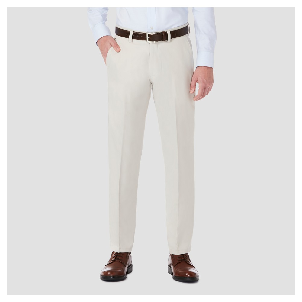 Haggar H26 Mens Performance 4 Way Stretch Straight Fit Trouser Pants - String 33x30