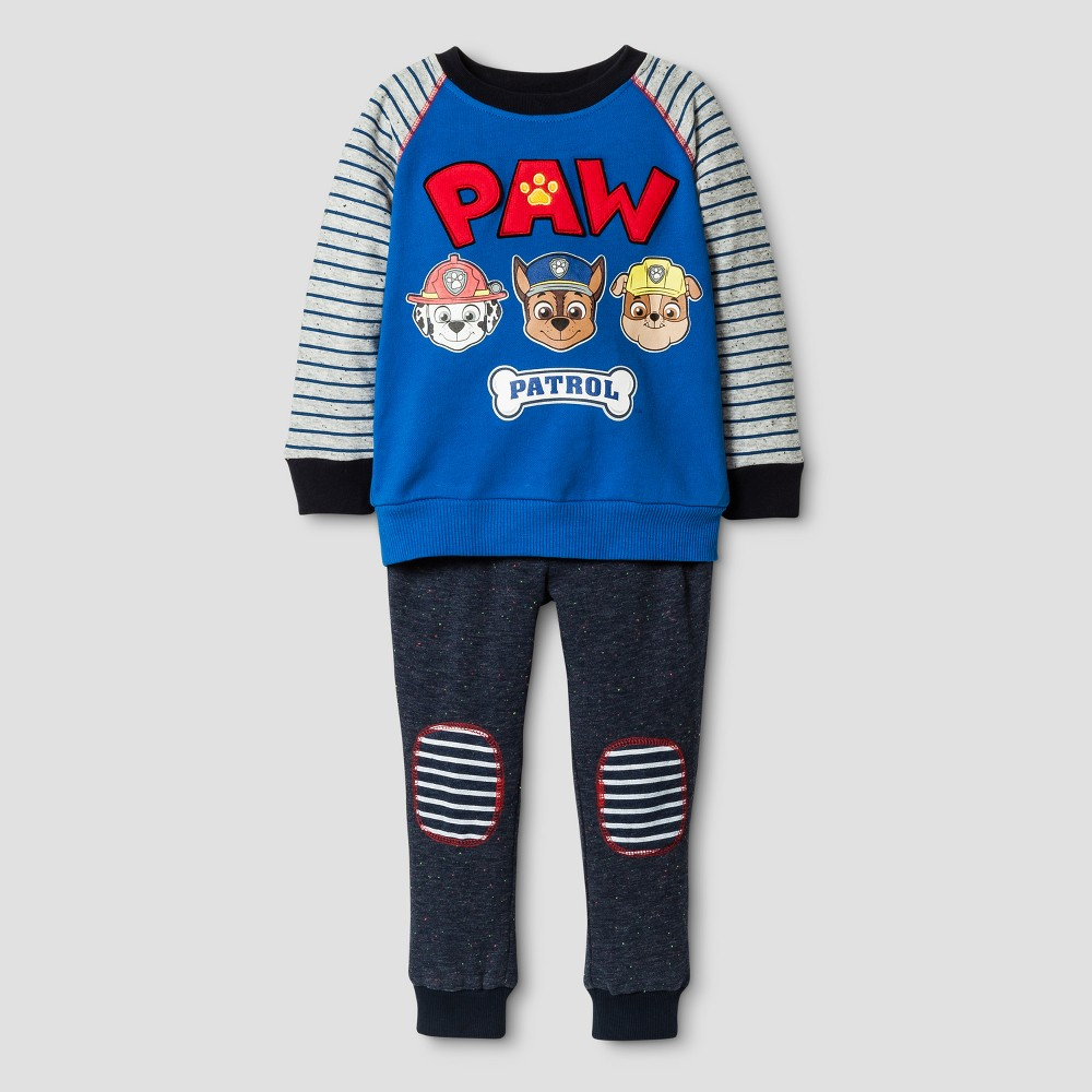 Toddler Boys Paw Patrol Top And Bottom Sets Blue 5T