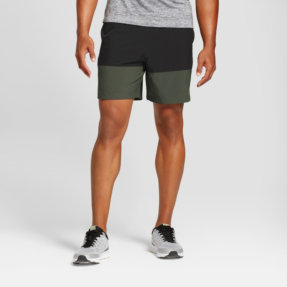 Mens Color Blocked Running Shorts - C9 Champion Forest Grove Xxl