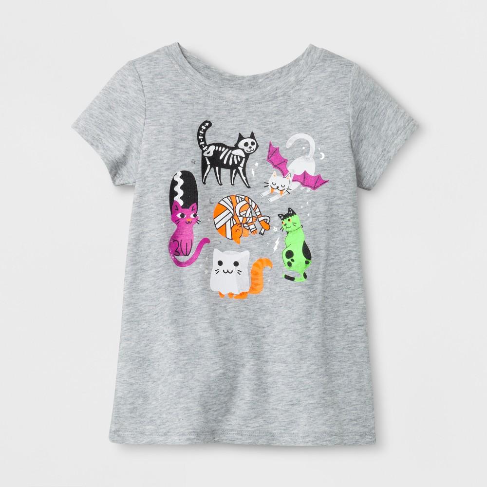 Toddler Girls Short Sleeve T-Shirt Cat & Jack Heather Gray 2T