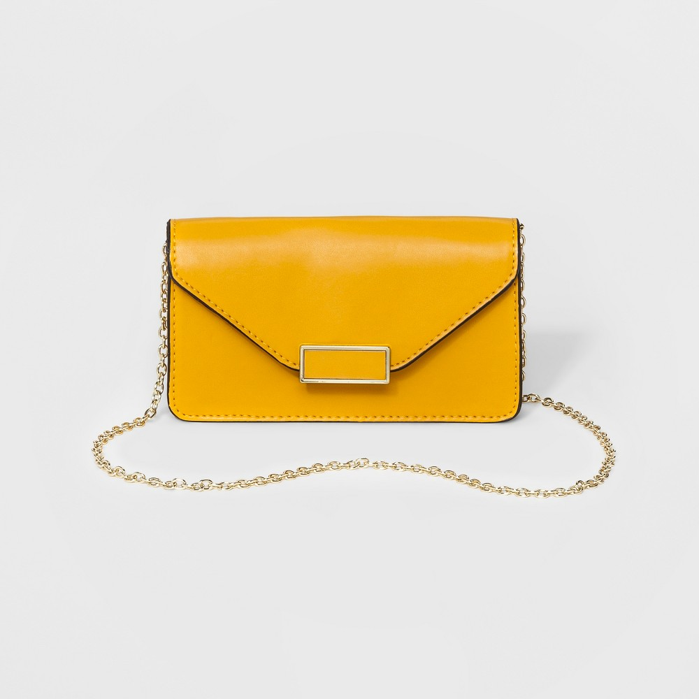 Womens Phone Clutch with Crossbody Strap - A New Day Yellow, Size: Small