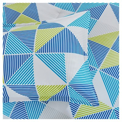 Blue Frankie Printed Comforter Set (Full)