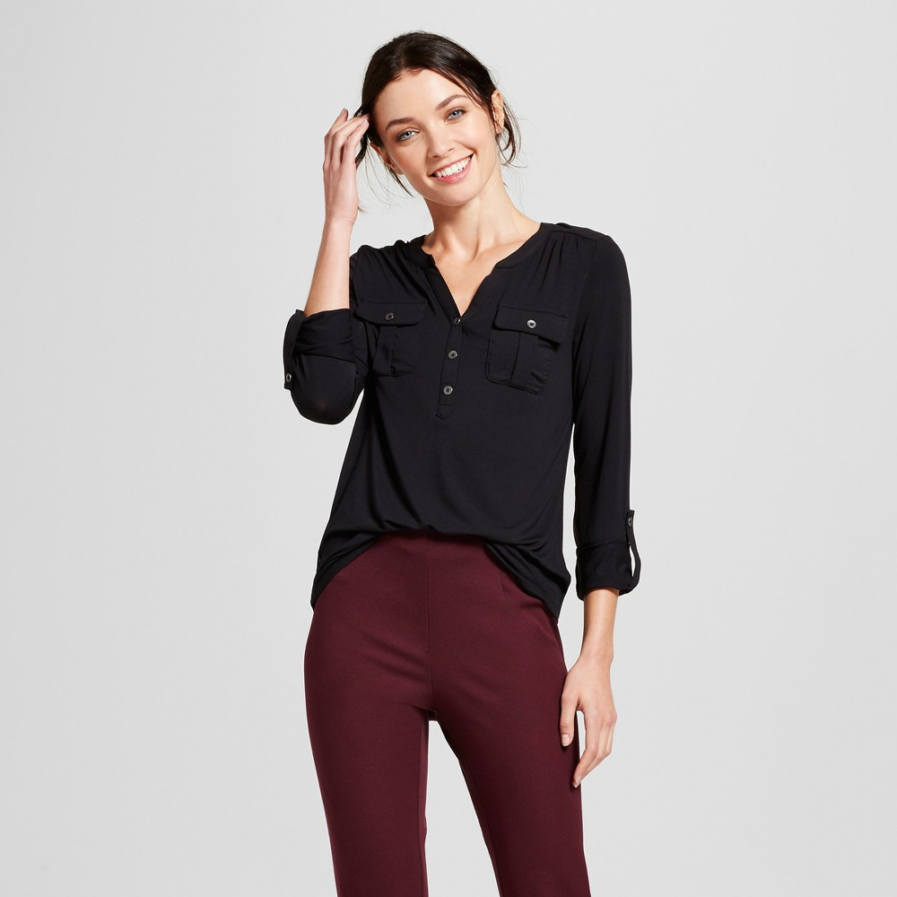 Womens Utility Top - A New Day Black XS