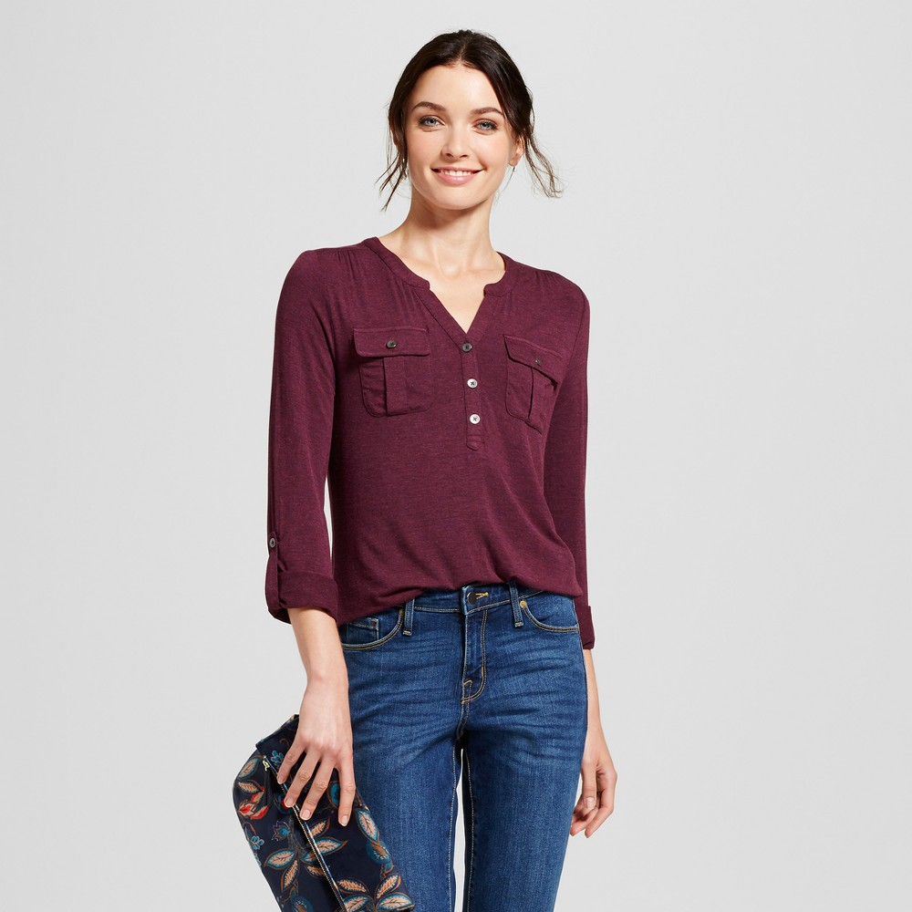 Womens Utility Top - A New Day Burgundy (Red) XL