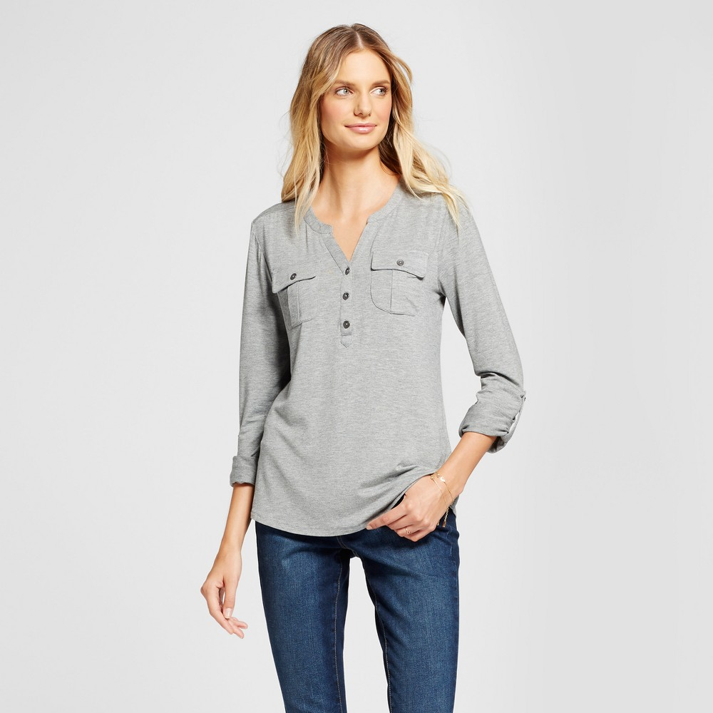 Womens Utility Top - A New Day Gray M
