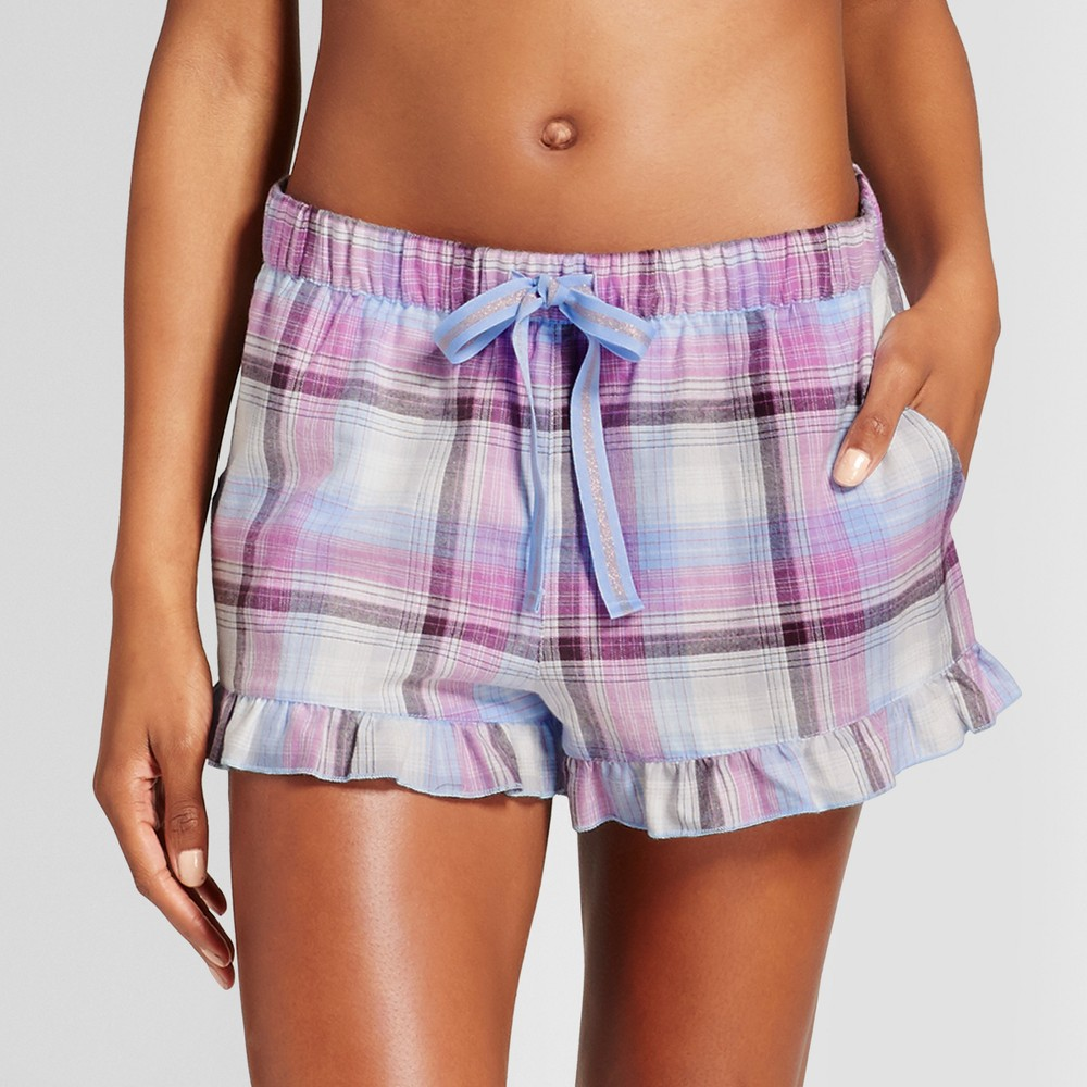 Womens Pajama Shorts - Xhilaration Placid Blue XS, Beige