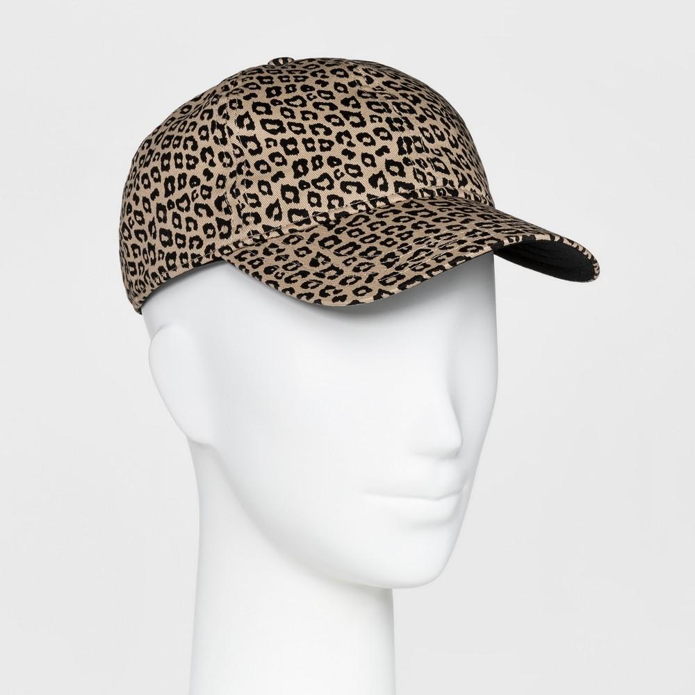 Womens Animal Print Baseball Hat - Mossimo Supply Co. Brown