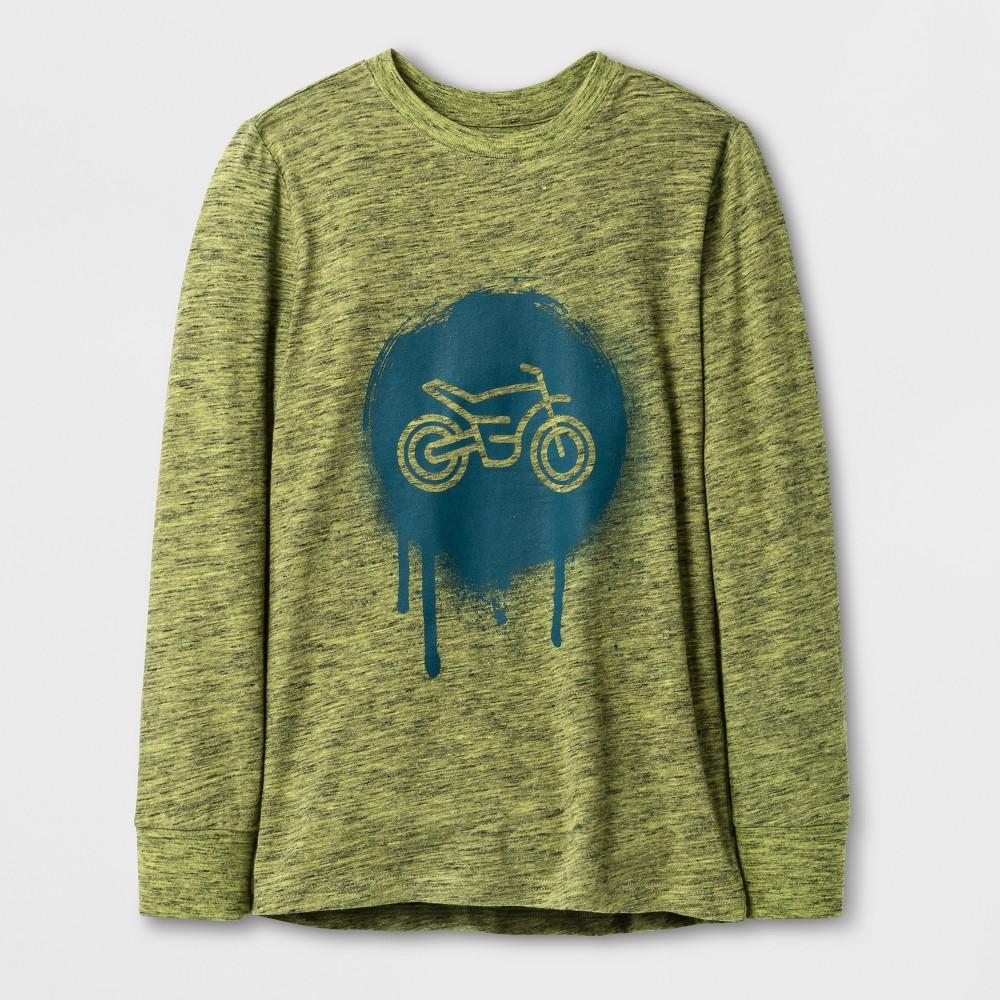 Boys Long Sleeve Graphic T-Shirt - Cat & Jack Green L
