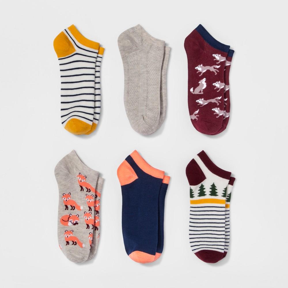 Womens Low-Cut Socks 6pk - Xhilaration Woodland One Size, Red
