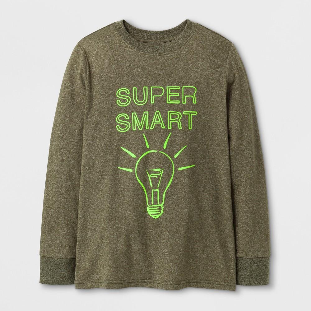 Boys Super Smart Graphic T-Shirt - Cat & Jack Green S