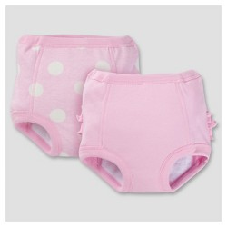 Toddler Girls' 2pk Training Pants with Moisture Barrier Liner - Dot 2T/3T - Gerber®