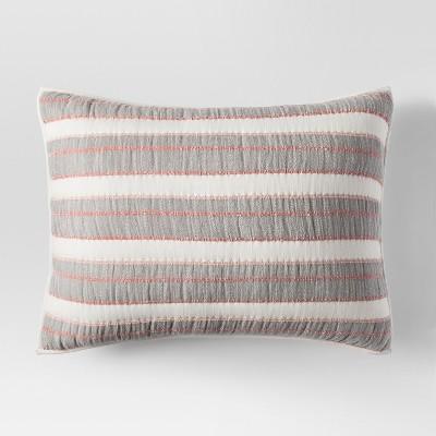 Gray Textured Stripe Sham (Standard)- Threshold™