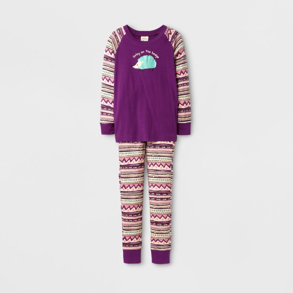 Nite Nite Munki Munki Girls Living on the Hedge Pajama Set - Purple 6