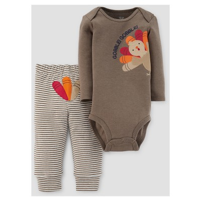 Baby 2pc Gobble Gobble Pants Set - Just One You™ Made by Carter's® Barnwood 6M