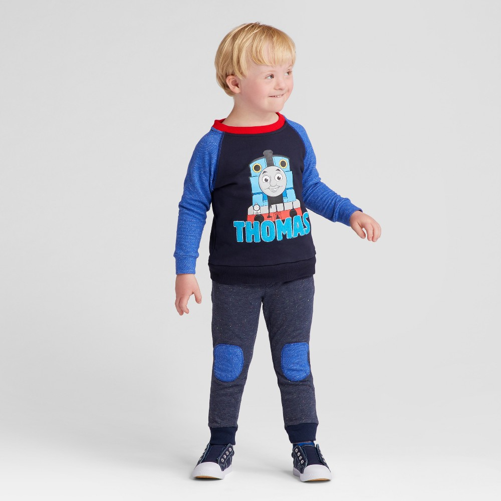 Toddler Boys Thomas & Friends Top And Bottom Sets Navy 18M, Size: 18 M, Blue