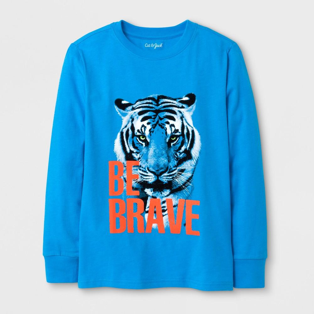 Boys Long Sleeve Tiger Graphic T-Shirt - Cat & Jack Blue XL