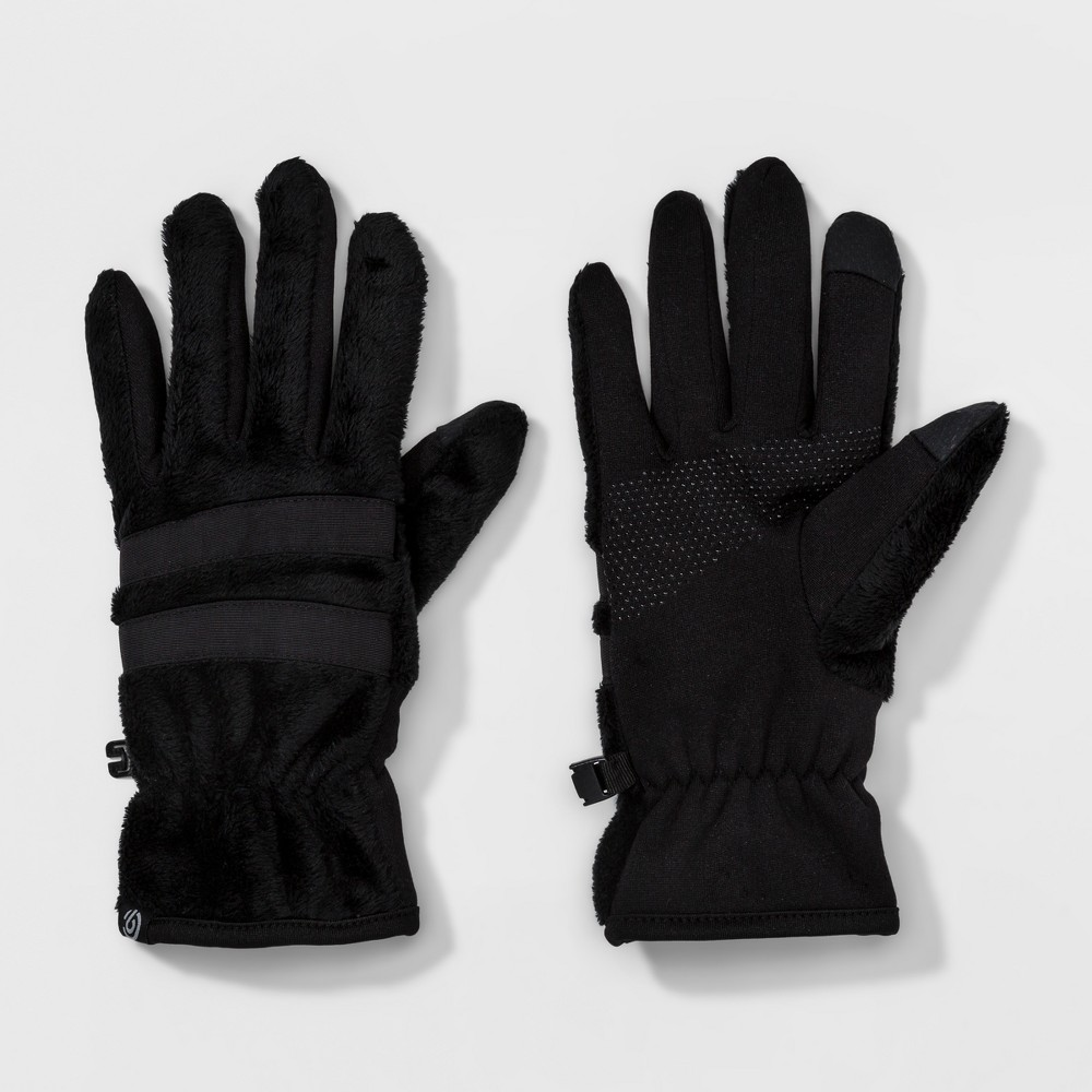 Womens Fuzzy Fleece Glove - C9 Champion Black L/XL
