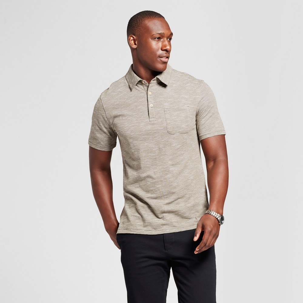 Mens Short Sleeve Solid Jersey Polo Shirt - Goodfellow & Co Olive (Green) Xxl