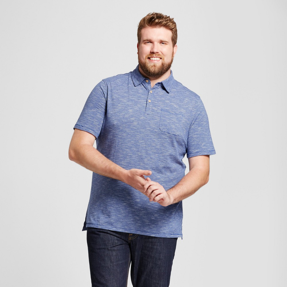 Mens Big & Tall Standard Fit Short Sleeve Solid Jersey Polo Shirt - Goodfellow & Co Blue 3XB