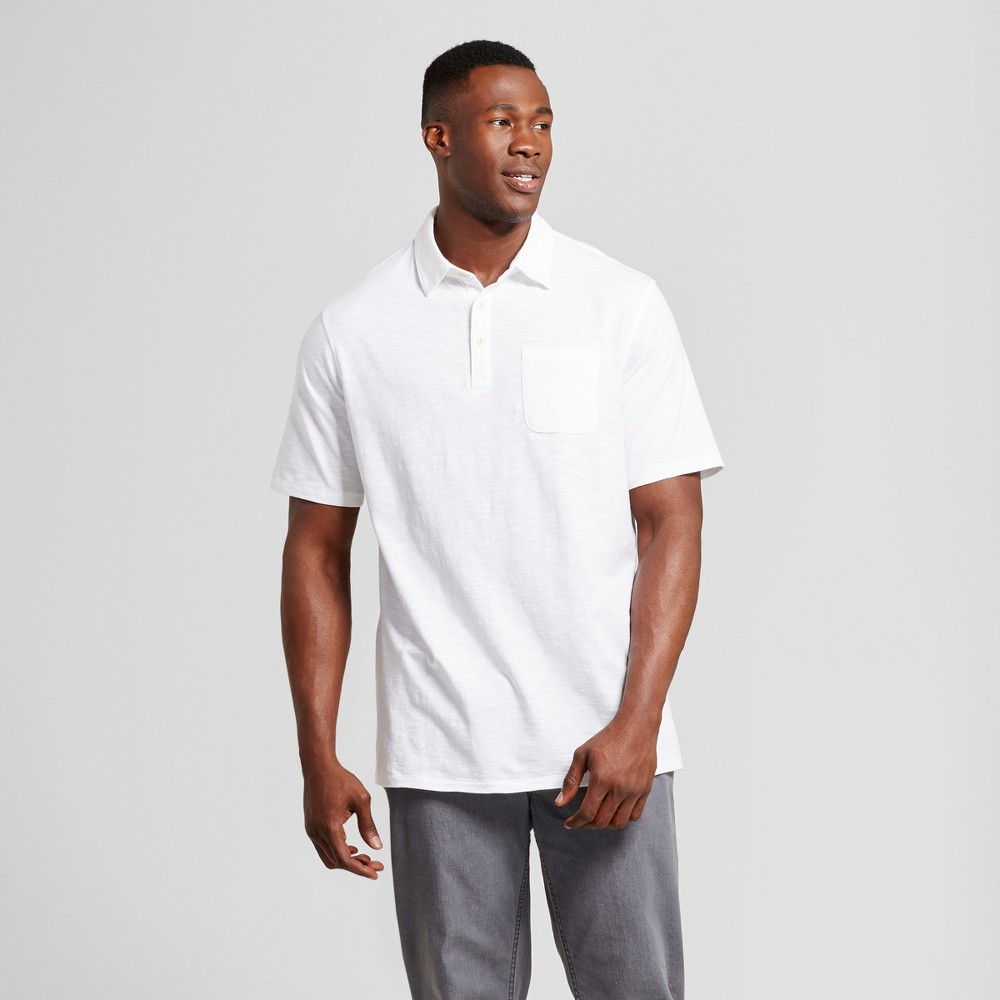 Mens Big & Tall Standard Fit Short Sleeve Solid Jersey Polo Shirt - Goodfellow & Co White 2XBT