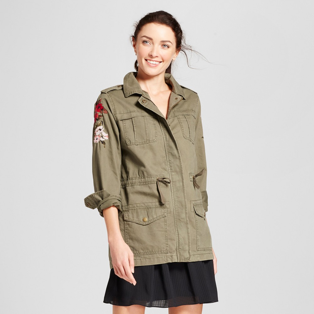 Womens Military Jacket - A New Day Olive L, Green