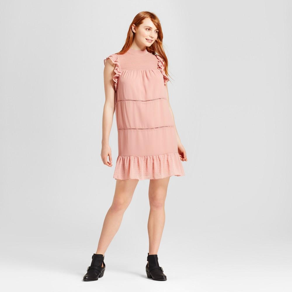 Womens Chiffon Mini Dress - Who What Wear Pink XS