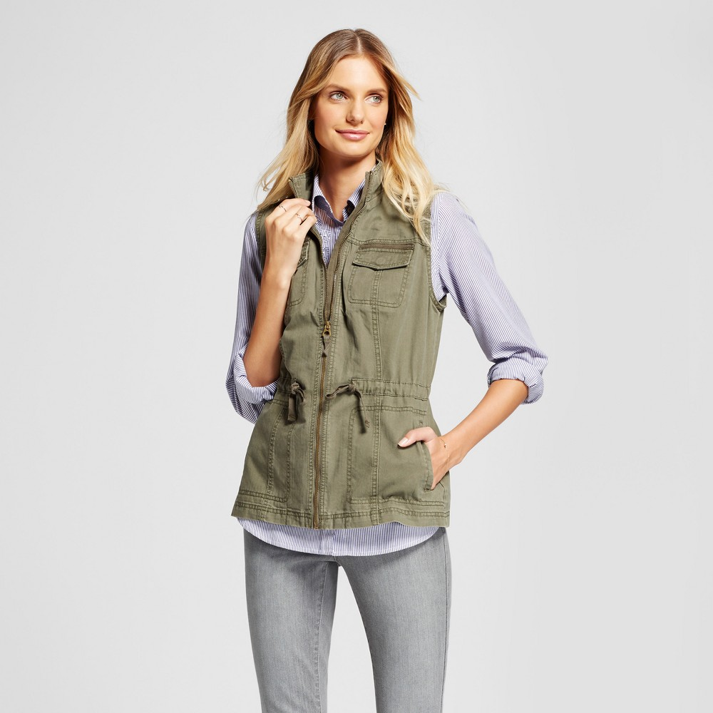Women's Military Vest - A New Day Olive (Green) L
