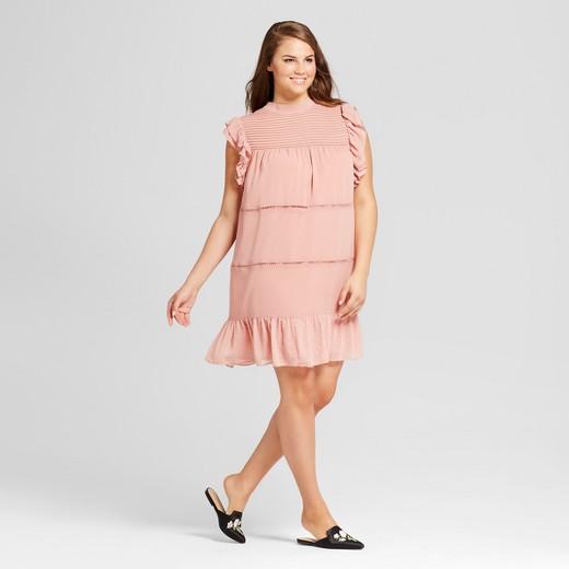 Women\'s Plus Size Chiffon Mini Dress - Who What Wear™ : Target