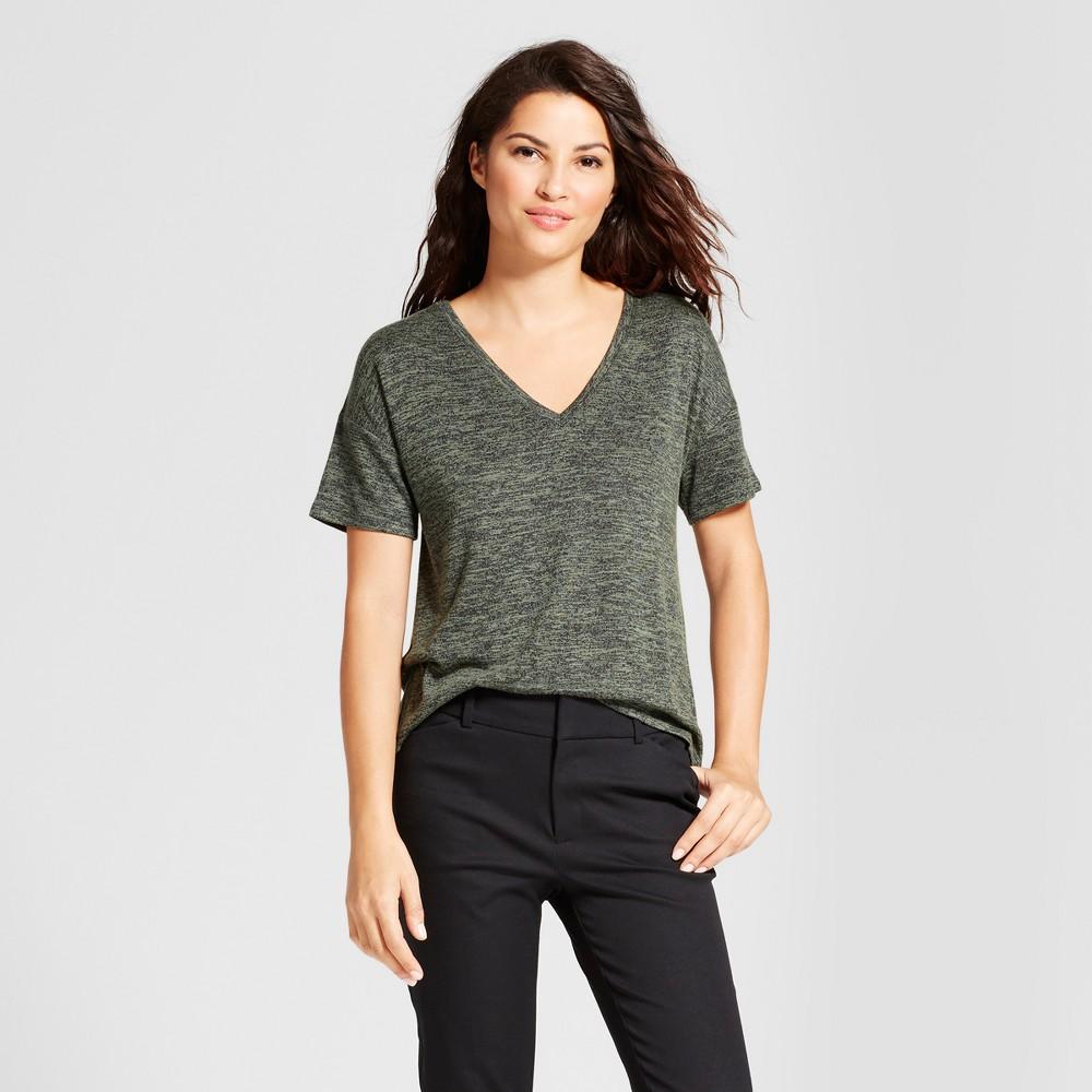 Womens Relaxed T-Shirt - A New Day Moss (Green) L