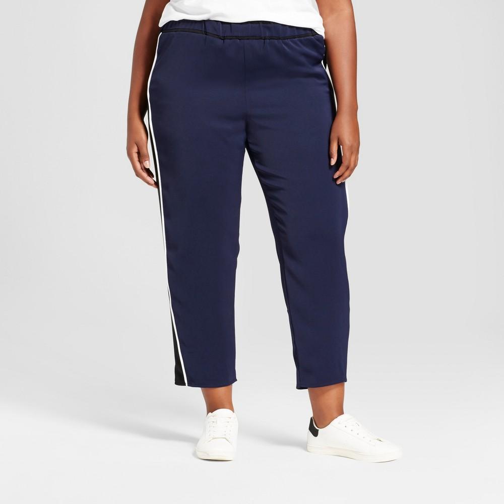 Womens Plus Size Track Pants - Ava & Viv Navy 1X, Blue