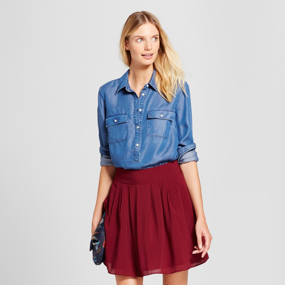Womens Any Day Tunic - A New Day Indigo XL, Blue