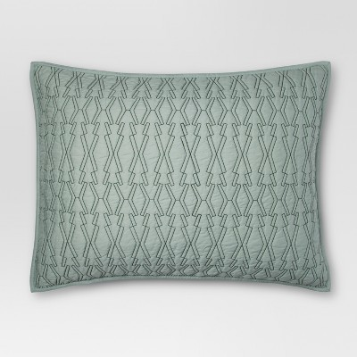 Green Contrast Stitch Sham (King)- Project 62™