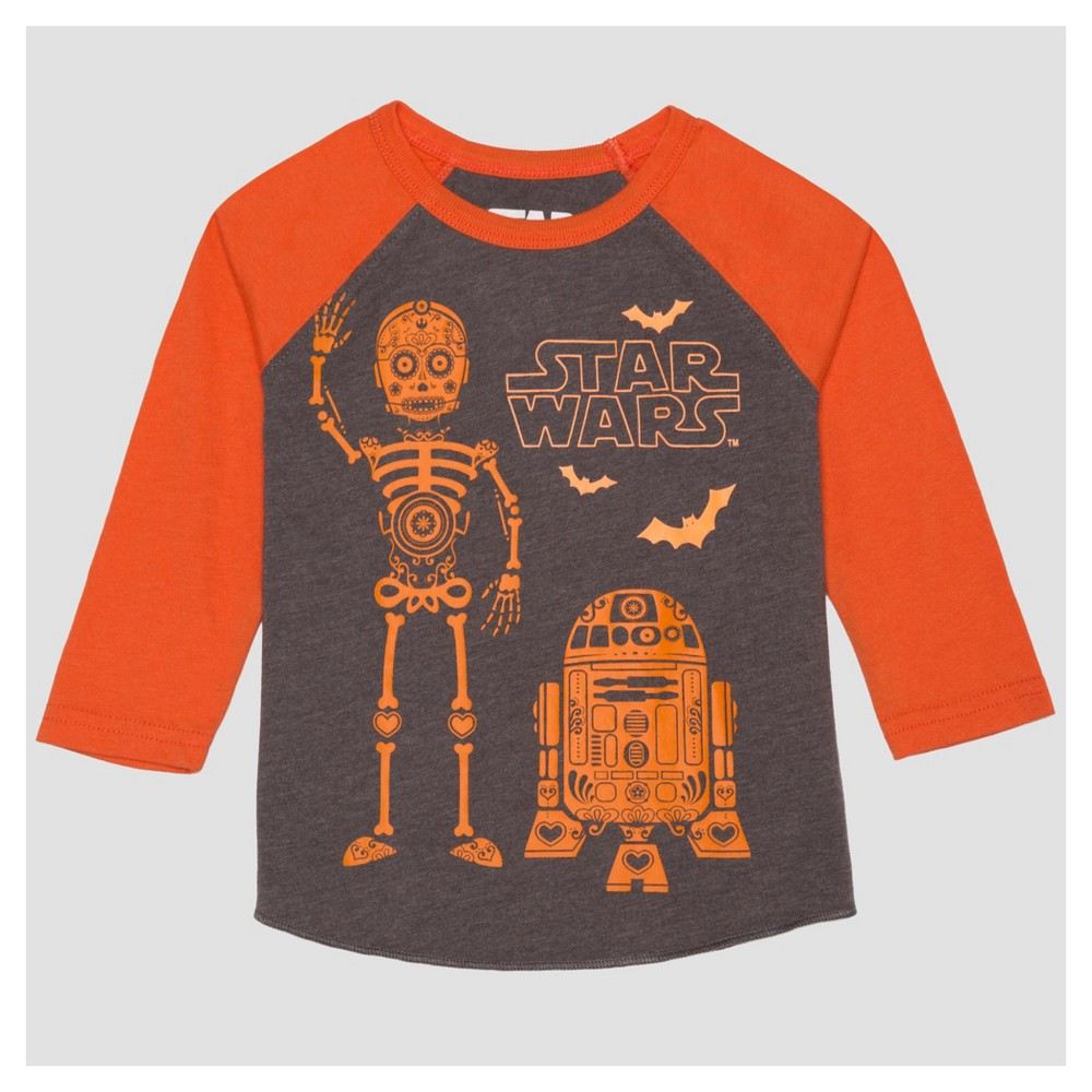T-Shirt Star Wars Charcoal Heather 3T, Infant Boys, Gray