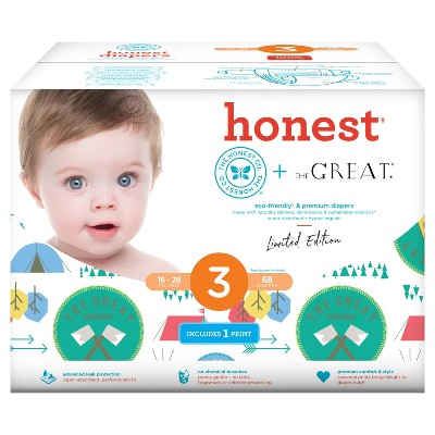 Honest Company Diapers Club Pack, Great Adventure - Size 3 (68 ct)