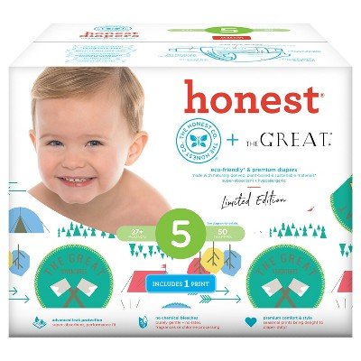 Honest Company Diapers Club Pack, Great Adventure - Size 5 (50 ct)