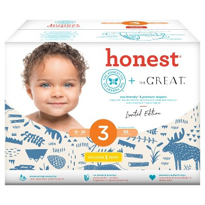 Honest Company Diapers Club Pack, Indigo Woods - Size 3 (68 ct)