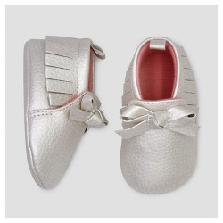 Baby Girls' Moccasin with Bow - Just One You™ Made by Carter's® Gray