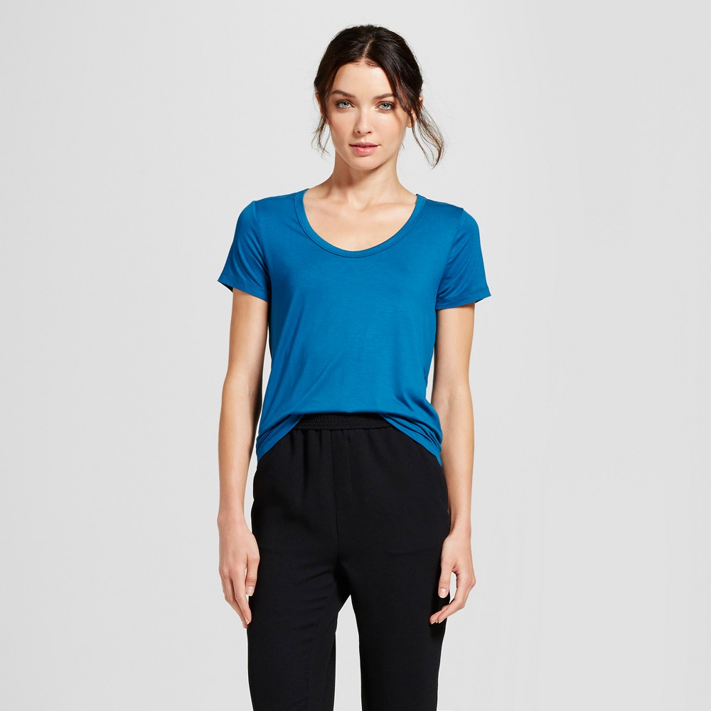 Womens Any Day Scoop T-Shirt - A New Day Teal (Blue) Xxl