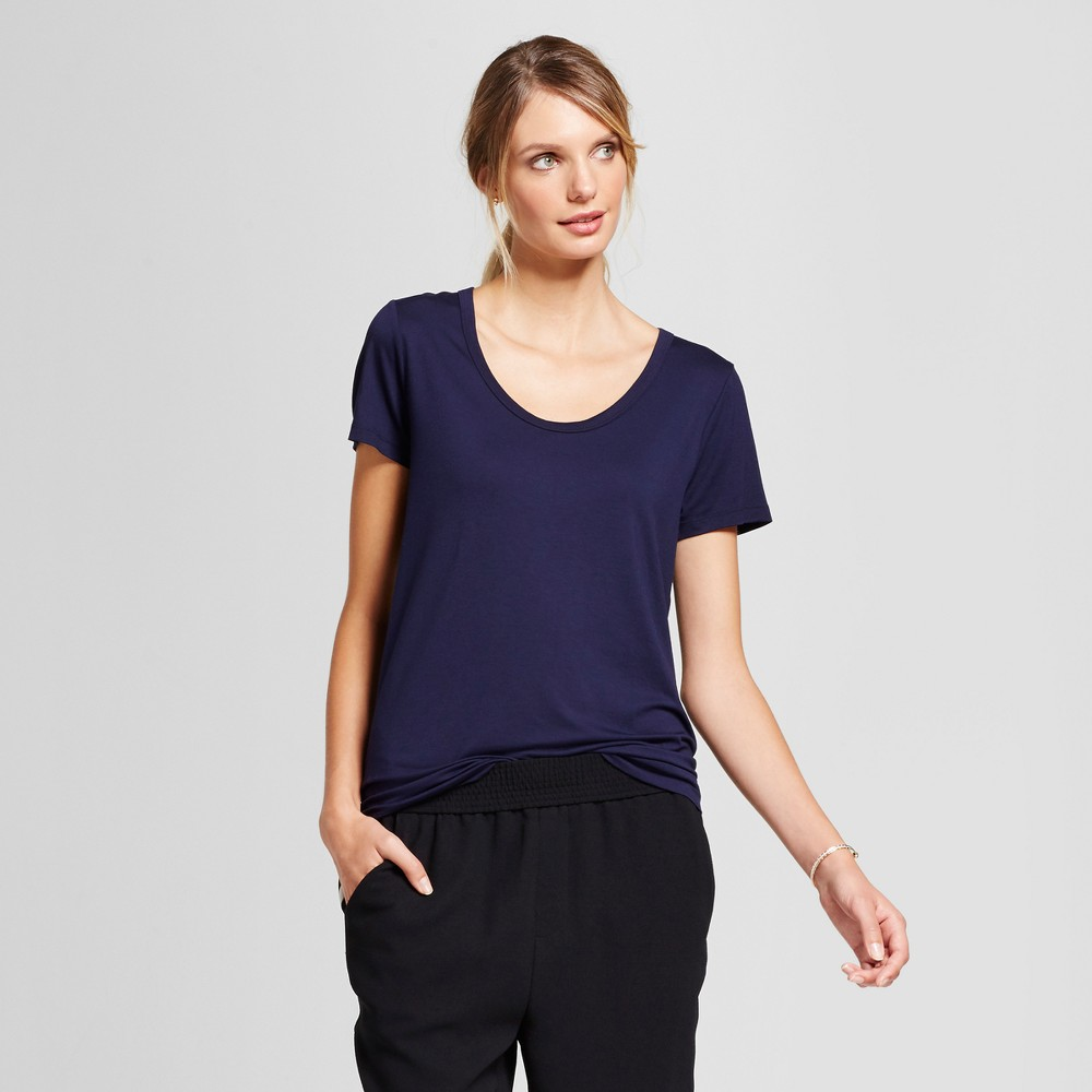 Womens Any Day Scoop T-Shirt - A New Day Navy (Blue) Xxl