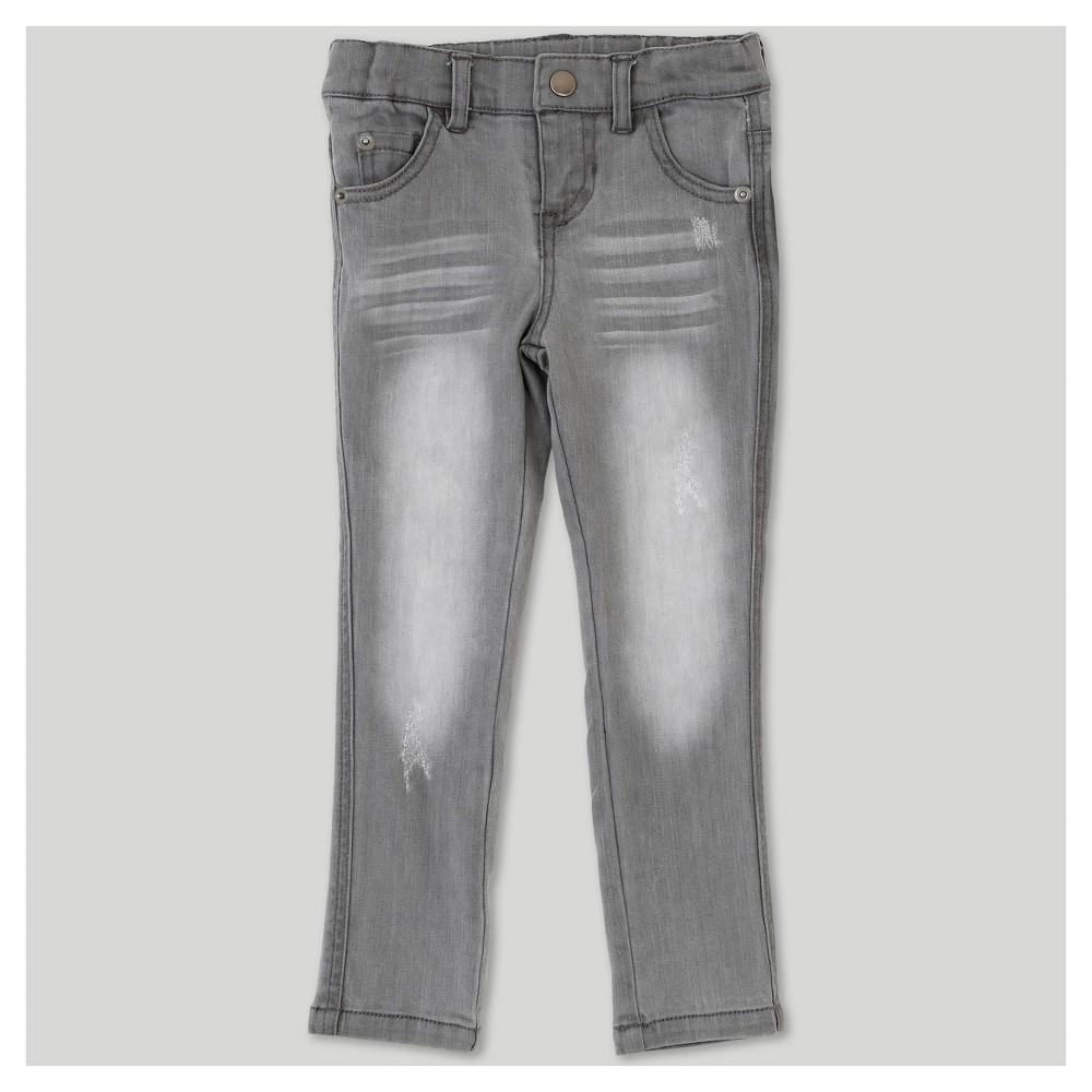 Toddler Girls Afton Street Straight Jeans Light Gray 2T