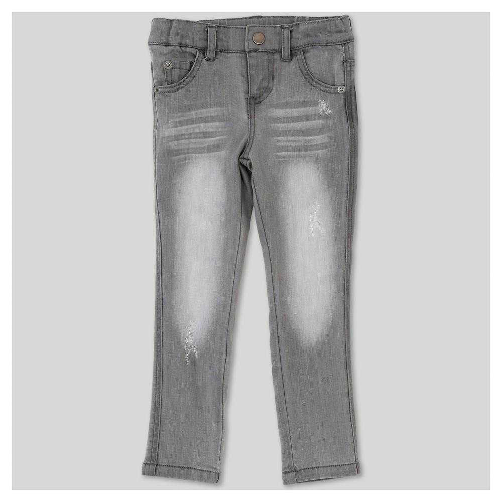 Toddler Girls Afton Street Straight Jeans Light Gray 3T