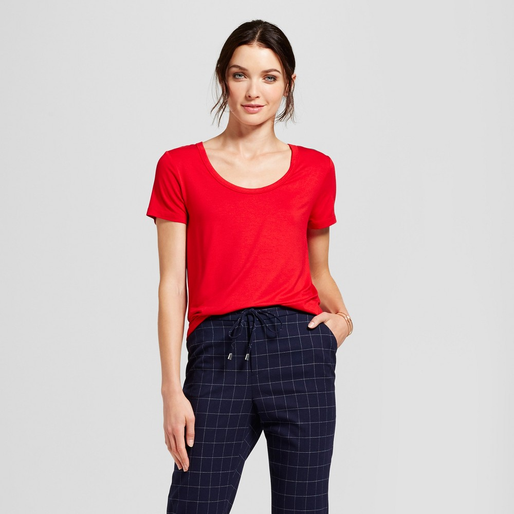 Womens Any Day Scoop T-Shirt - A New Day Red S
